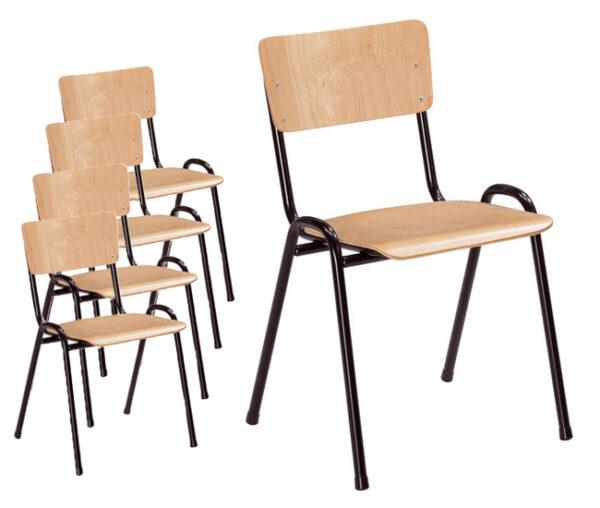 kantinestoel/schoolstoel Florion hout