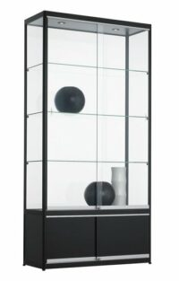 Vitrinekast 200x100x40cm schuifdeurkasten