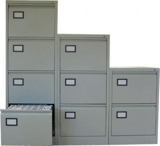 Dossierkast 3laden grijs