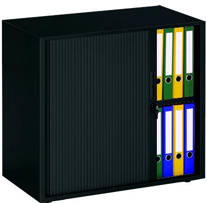 Roldeurkast 72,5x80x43cm Zwart