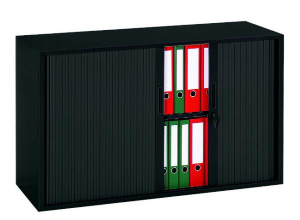 Roldeurkast 72,5x120x43cm Zwart