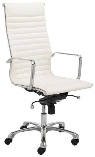 Bureau Stoel Wit.Design Bureaustoel Wit Leder