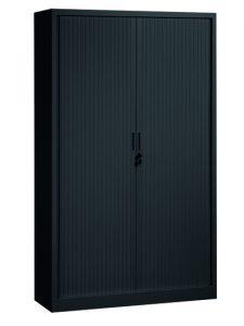 Roldeurkast 198x120x43cm Zwart