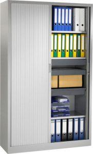 Roldeurkast 198x120x43cm Aluminium