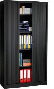 Roldeurkast 198x100x43cm Zwart