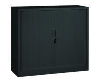 Roldeurkast 105x120x43cm Zwart