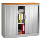 Roldeurkast 105x120x43cm Aluminium
