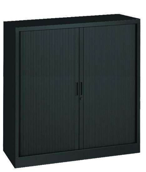 Roldeurkast 135x120x43cm Zwart