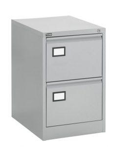 Dossierkast 2laden aluminium