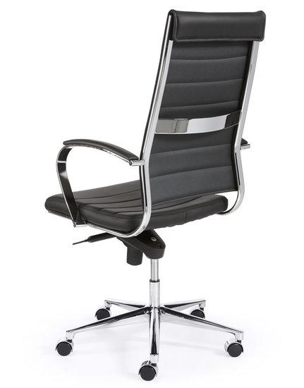 Design Bureaustoel Zwart hoge rug