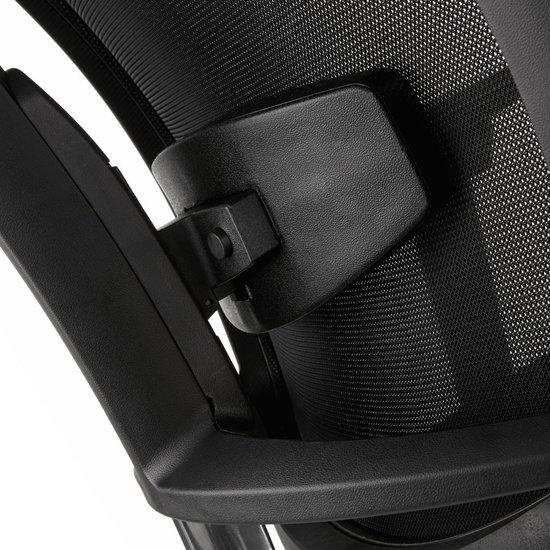 bureaustoel zwart stof