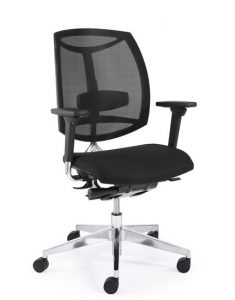 Bureaustoel zwart stof EN-1335 normering