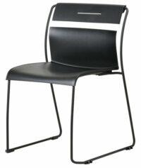 Designstoel Zwart kunststof