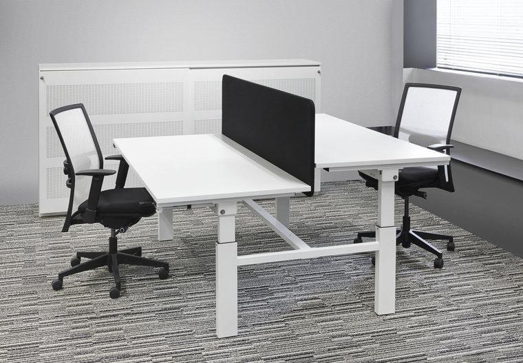 DUO Werkplek 180x165cm zit sta bureaus