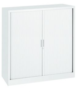 Roldeurkast 135x120x43 cm Wit