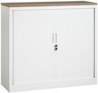 Roldeurkast 105x120x43 cm Wit