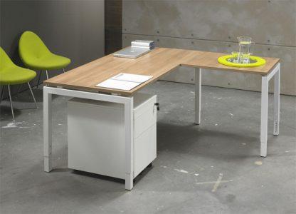 Luxe Bureau Wit 180x80cm + Aanbouwtafel