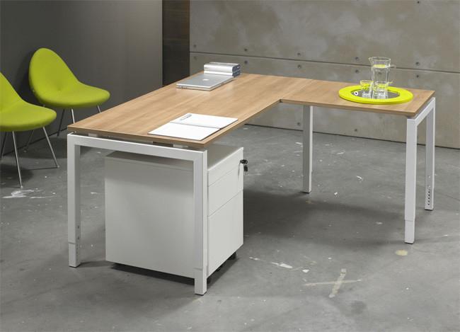 Luxe bureau wit cm aanbouwtafel kantoormeubelen pro