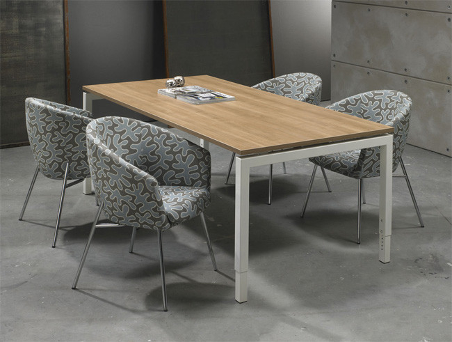 Bureau vergadertafel wit cm kantoormeubelen pro