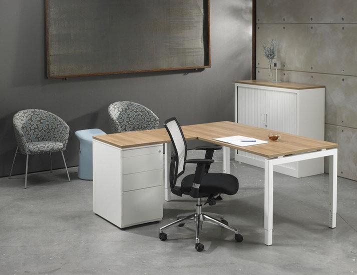 Luxe bureau met ladeblok wit cm kantoormeubelen pro