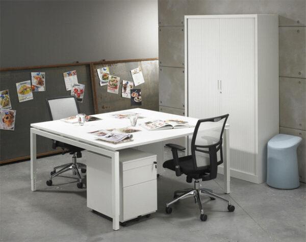 Bureau vergadertafel Wit 160x160cm