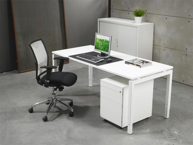 Luxe bureau wit 80x80cm for Accessoire bureau luxe