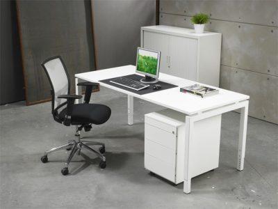 Ergonomische Bureautafel Wit 60x80cm