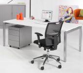 Luxe Bureau Aluminium 180x90cm