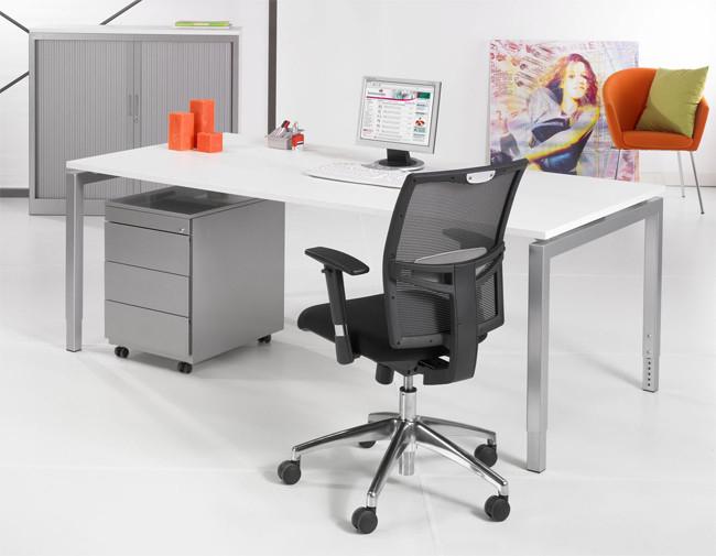 Luxe bureau aluminium 180x90cm kantoormeubelen.pro