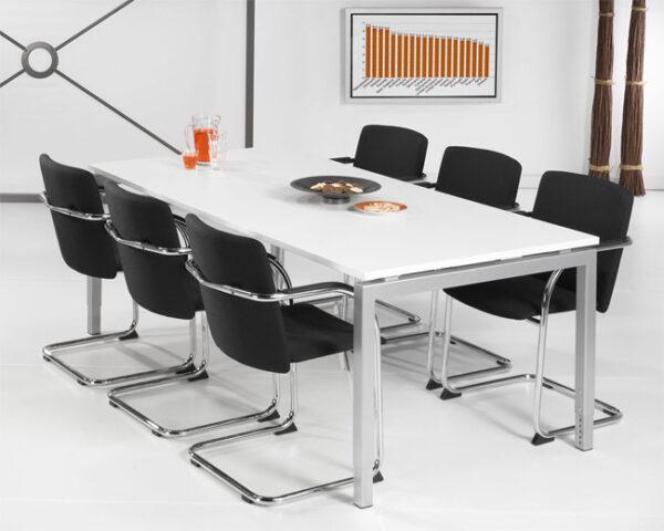 Ergonomisch Bureau Aluminium 180x90cm
