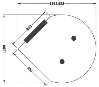 Aanbouw vergadertafel model Druppel
