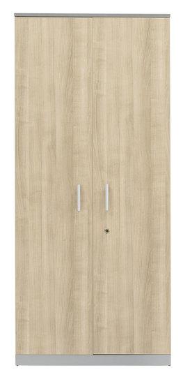 draaideurkast 200x92x42 cm donkerbruin hout