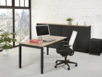 Bureaustoel zonder wielen kantoormeubelen pro