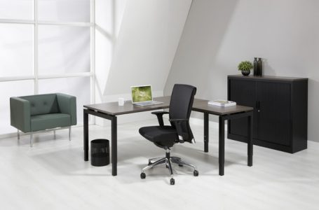 Luxe Bureau Zwart 180x80cm + Aanbouwtafel