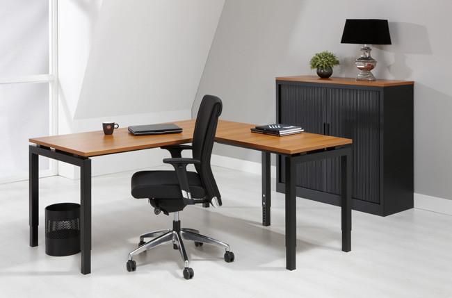 Luxe bureau zwart cm aanbouwtafel kantoormeubelen pro