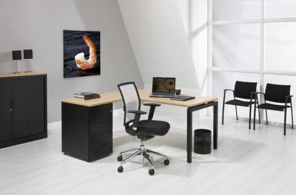 luxe bureau met ladeblok antra 180x160cm