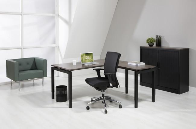 Luxe aanbouwtafel zwart 60x80cm for Accessoire bureau luxe