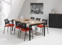 Bureau vergadertafel Zwart 200x100cm