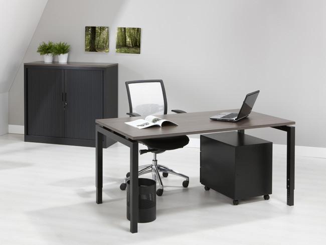 Luxe bureau zwart cm kantoormeubelen pro