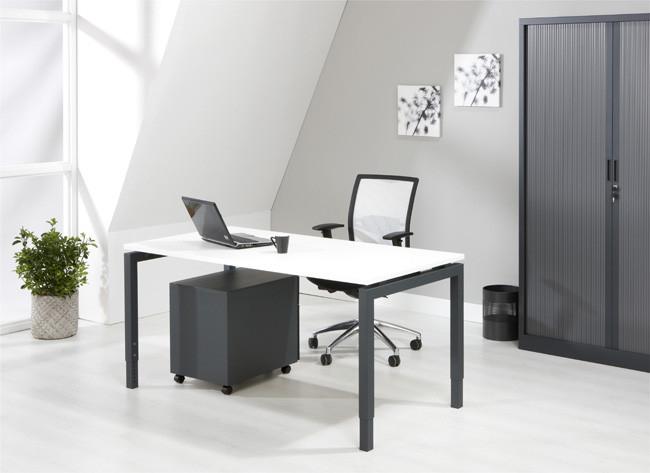 Luxe bureau antraciet 180x80cm kantoormeubelen.pro