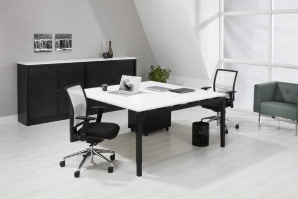 Bureau vergadertafel Zwart 160x160cm