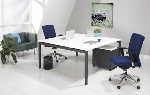Bureau vergadertafel Antraciet 160x160cm