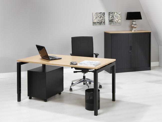 Luxe bureau zwart 140x80cm kantoormeubelen.pro