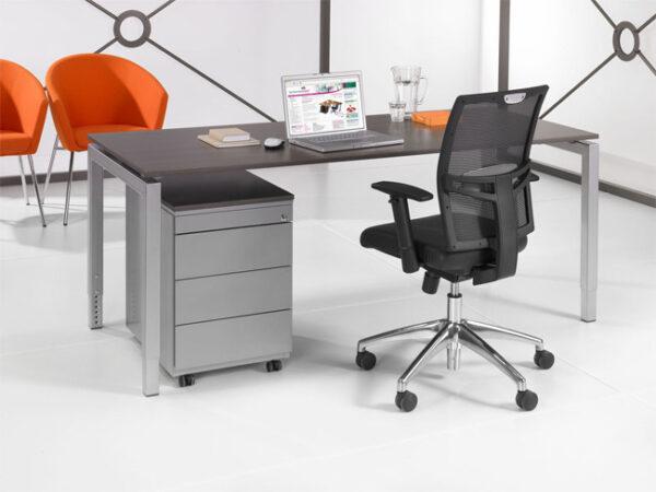 Luxe Bureau aluminium 140x80cm