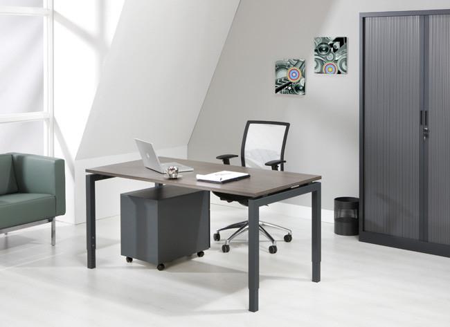 Luxe bureau antraciet cm kantoormeubelen pro