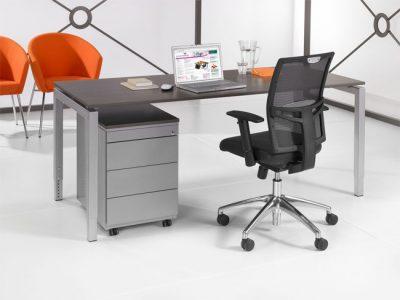 Luxe Bureau Aluminium 120x80cm