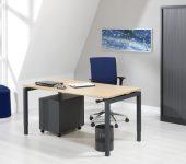 Luxe Bureau antraciet 120x80cm