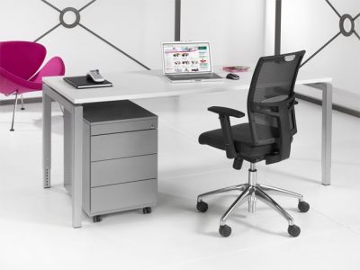 Luxe Bureau Aluminium 120x60cm