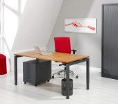 Luxe Bureau antraciet 120x60cm