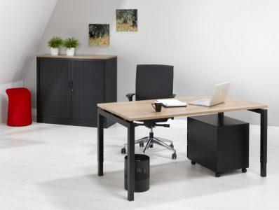 Luxe Bureau Zwart 80x80cm